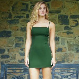 NWT A Love Like You Green Square Neck Mini Dress
